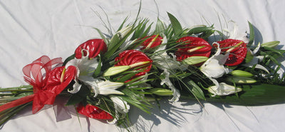 anthurium and oriental lily sheaf