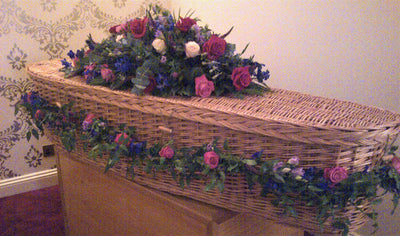 coffin spray   garland