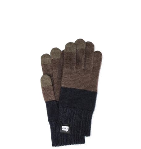2TON Knit Gloves, Olive Grey/Navy