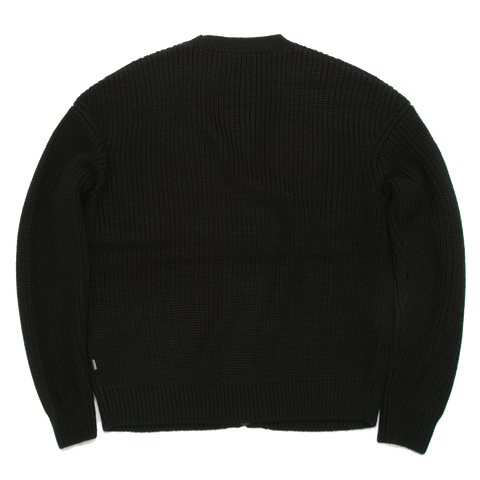 Campsur Cable Knit Cardigan, Black