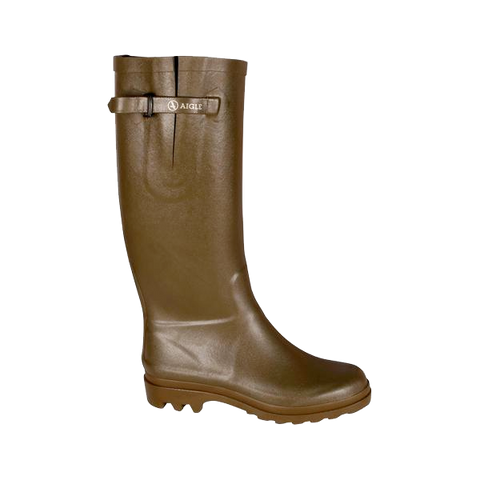Women's Aiglentine Rubber Boot, Khaki