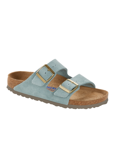 Women's Arizona Sandal With Soft Foot Bed, Light Blue