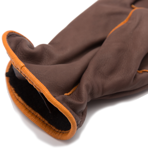 Light Lined Deerskin Work Glove, Brown