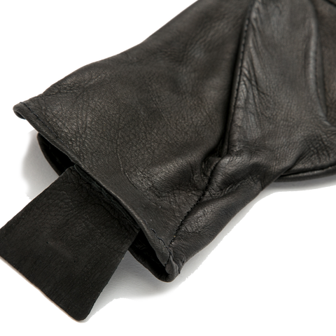 Medium Weight Deerskin Glove, Black
