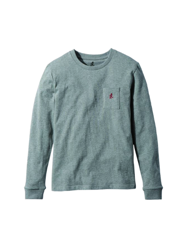 One Point L/S Tee, Heather Grey