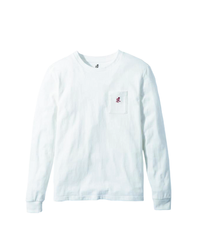 One Point L/S Tee, White