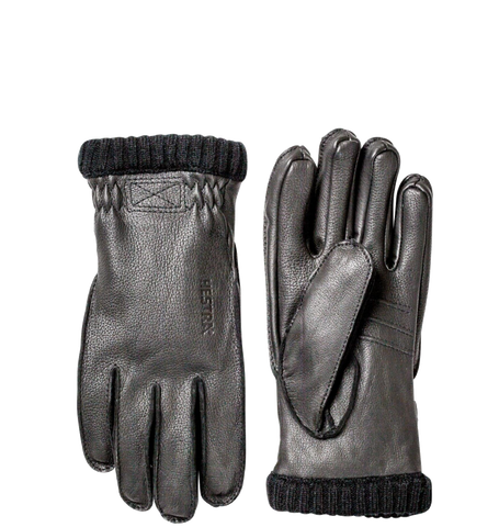 Deerskin Primaloft Ribbed Glove, Black