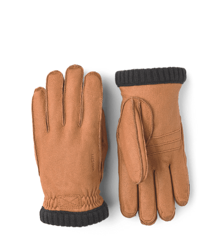 Deerskin Primaloft Ribbed Gloves, Cork