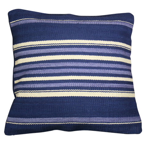 Cushion Cover, Navy Blue Stripe