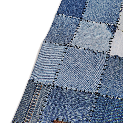 Denim Patchwork Rug, Blue