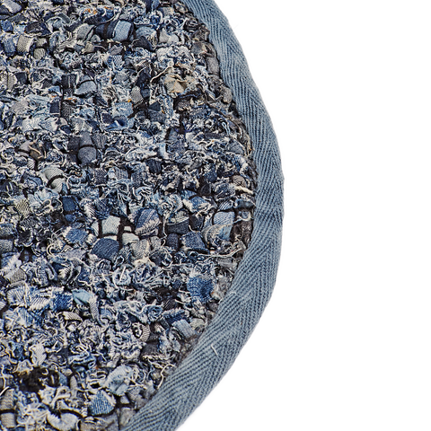 Denim Round Rug, Blue