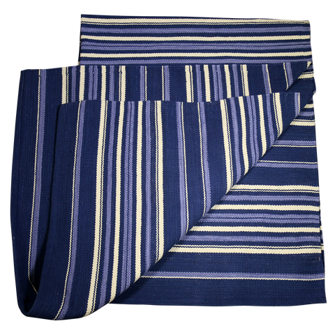 Native Rug, Navy Blue Stripe