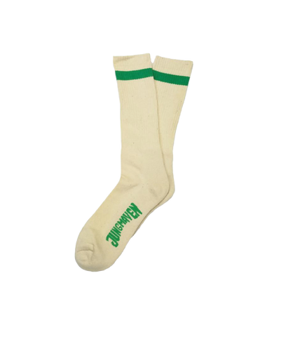 Town And Country Socks, Green Stripe