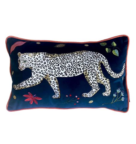 Left Snow Leopard Cushion, Snow Leopard