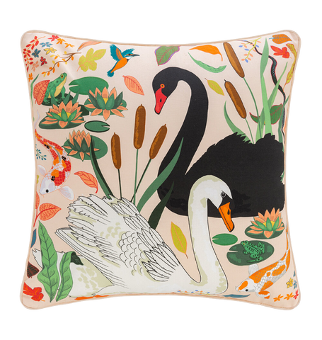 Swan Lake Cushion, Cream