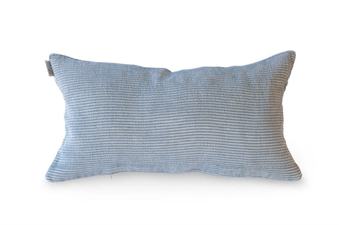 Kudde Pillowcase 40x70cm, Blue Herringbone/Natural