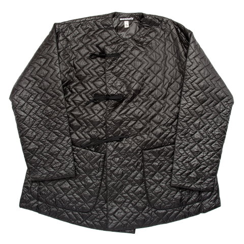Crewneck Field Shell Jacket, Black