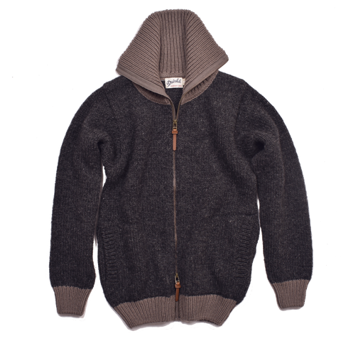 Nansen Zip Cardigan, Anthracite / Falcon