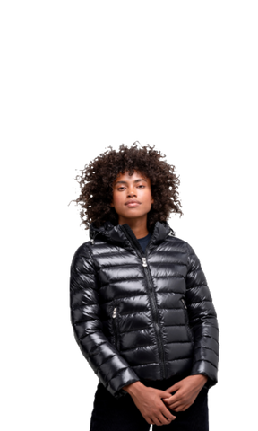 Spoutnic Shiny Down Jacket, Black