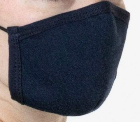 Cotton Face Mask, Navy