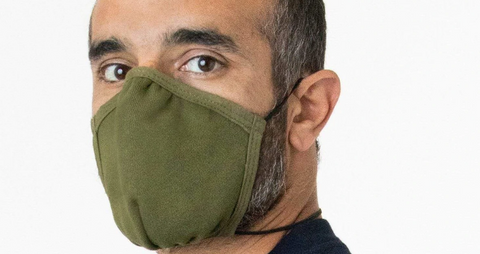 Cotton Face Mask, Olive Green