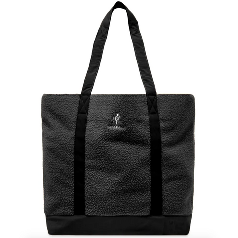 Boa Fleece Tote, Black