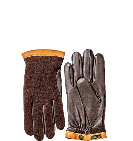 Deerskin Wool Tricot, Espresso / Dark Brown