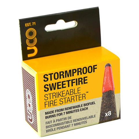 Stormproof Sweetfire Strikeable Fire Starter 8-Pack