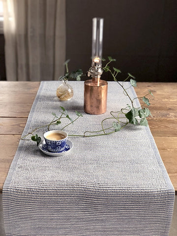 Vaga Table Runner 250cm, White/Natural