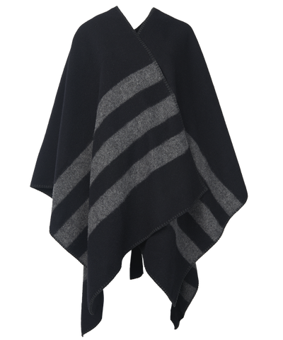 Poncho, Black / Grey