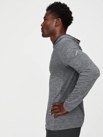 Seamless Merino Hoodie (S20PPUP), Heather Grey