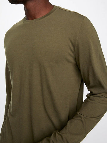 Long Sleeve Everyday Merino Tee (S20PPUP), Dark Olive