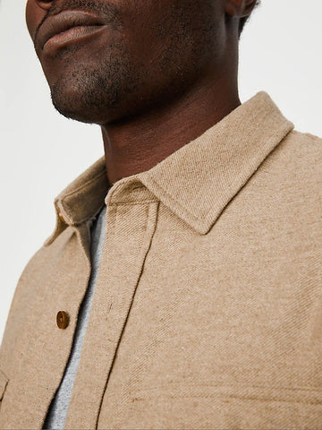 Insulated Wool Shirt Jacket (S20PPUP), Camel