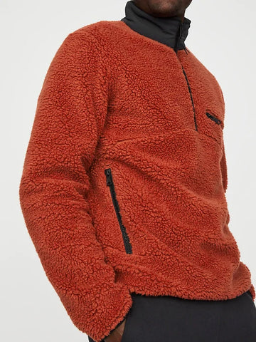 High Pile Pullover (S20PPUP), Brick Red