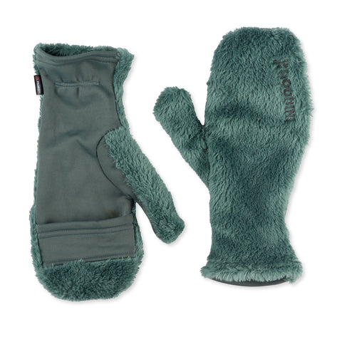 Hairy Magic Mitts, Storm Green