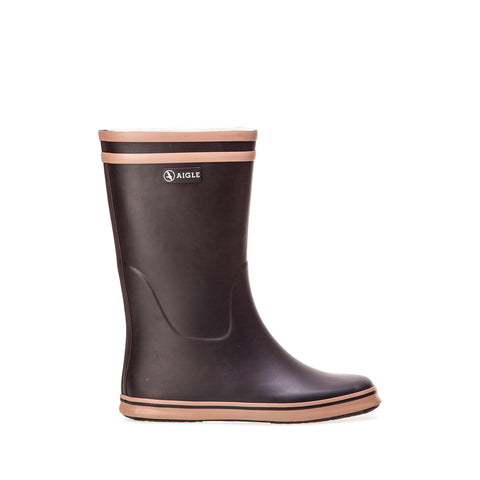 Women's Malouine Rubber Boot, Black / Camel