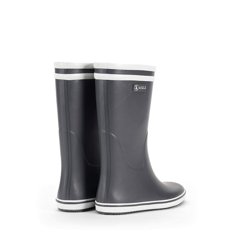 Women's Malouine Rubber Boot, Charcoal