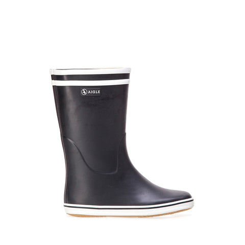 Women's Malouine Rubber Boot, Marine / White