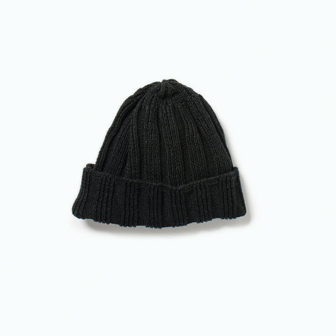Linen & Cotton Knit Cap (SS19), Black