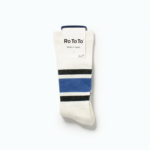 "Daily Compression Socks ""Old School Stripe"", Black / Blue"