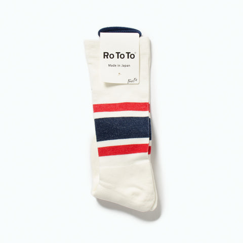 "Daily Compression Socks ""Old School Stripe"", Red / Navy"