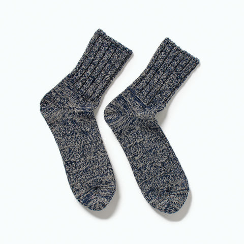 RoToTo Denim Tone Socks, Gray Denim at Westerlind