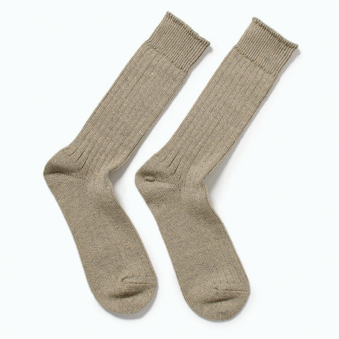 RoToTo Linen Cotton Rib Socks, Medium Gray at Westerlind