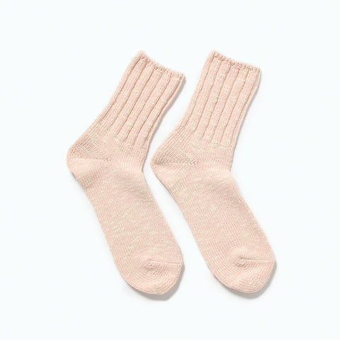 RoToTo Low Gauge Slub Socks, Pink at Westerlind
