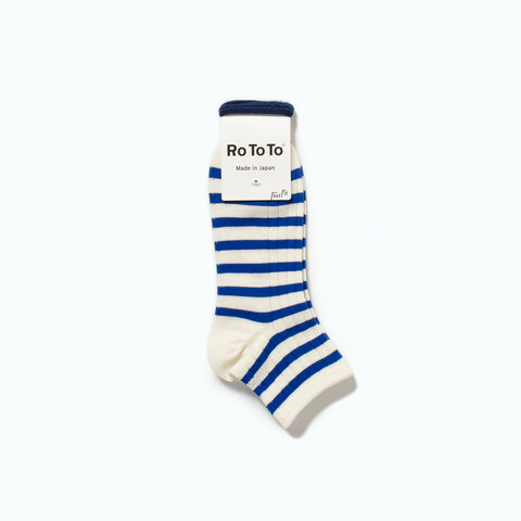 Marine Striped Socks, White / Blue