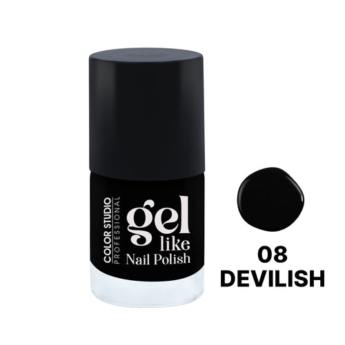 Gel Like Nail Polish -  08 Devilish - COLORSTUDIOMAKEUP