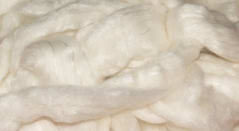 Merino/Silk Blend Roving - Natural