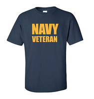 T-shirt USN US Navy Veteran Military Navy Blue Shirt