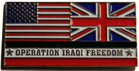 usa uk military pin operation iraqi freedom oif flags united states union jack