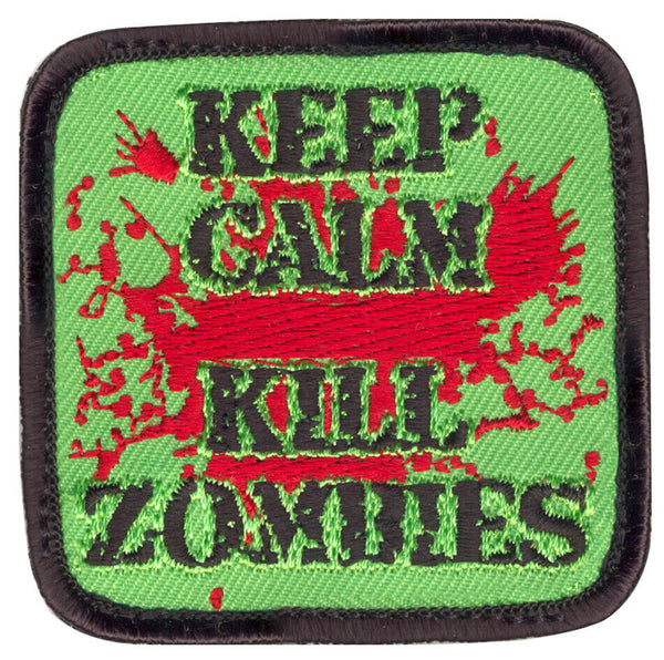 keep calm kill zombies patch hook backing rothco 73196